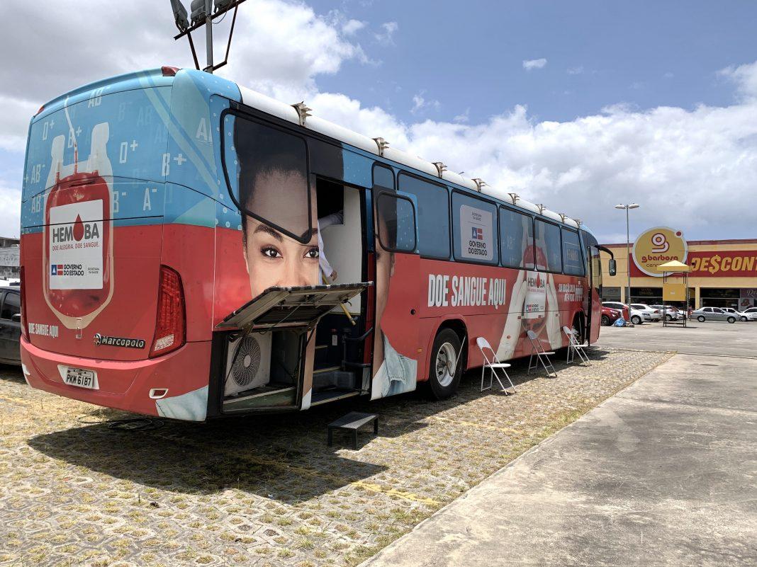 Unidades m�veis da Hemoba recebem doadores na R�tula do Abacaxi e S�o Crist�v�o | Bahia tempo real
