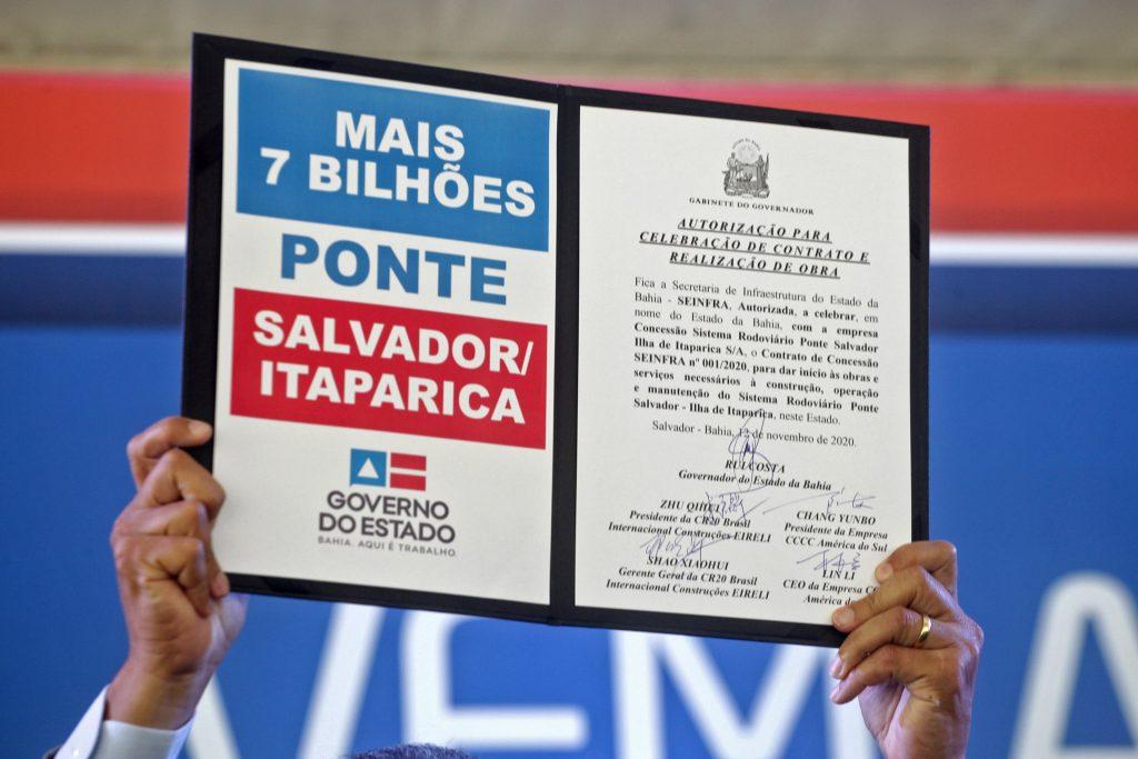 Constru��o da Ponte Salvador-Itaparica deve come�ar em um ano, gerando oito mil novos empregos | Bahia tempo real