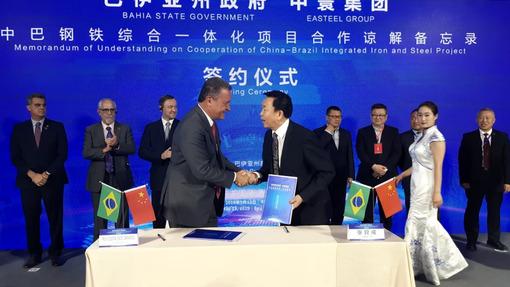 Rui assina protocolo com empresa chinesa