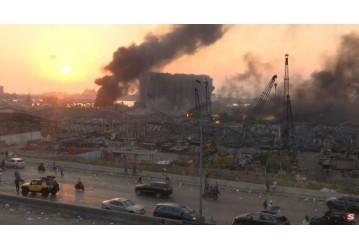Grande explosão na região portuária de Beirute deixa ao menos 10 mortos