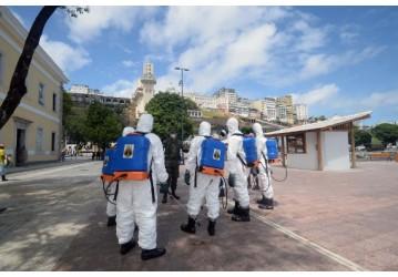 Prefeitura promove desinfecção de pontos turísticos com as Forças Armadas